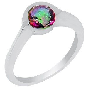 Rainbow Topaz 925 Sterling Silver Ring Jewelry s.9 R5159MY-9