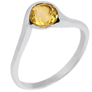 Citrine 925 Sterling Silver Ring Jewelry s.6 R5159C-6