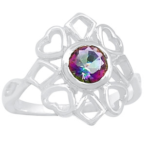 Rainbow Topaz 925 Sterling Silver Ring Jewelry s.7 R5210MY-7