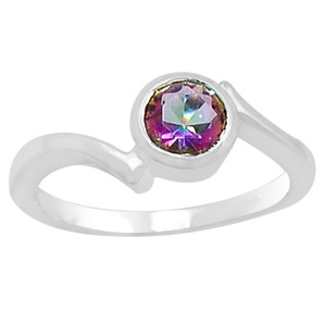 Rainbow Topaz 925 Sterling Silver Ring Jewelry s.7 R5184MY-7