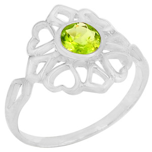 Peridot 925 Sterling Silver Ring Jewelry s.7 R5210P-7