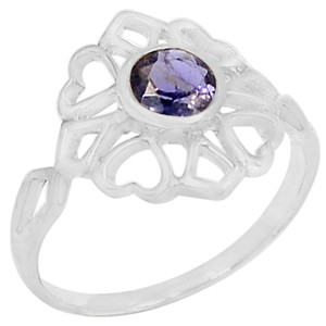 Iolite 925 Sterling Silver Ring Jewelry s.8 R5210I-8