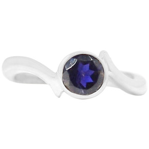 Iolite 925 Sterling Silver Ring Jewelry s.7 R5184I-7