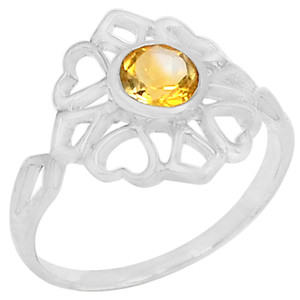 1cts Citrine 925 Sterling Silver Ring Jewelry s.9 R5147C-9