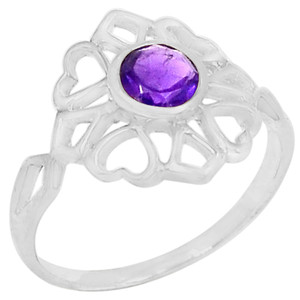 Amethyst 925 Sterling Silver Ring Jewelry s.7 R5210A-7