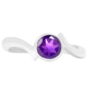 Amethyst 925 Sterling Silver Ring Jewelry s.6 R5184A-6