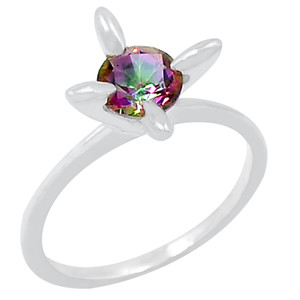Rainbow Topaz 925 Sterling Silver Ring Jewelry s.8 R5203MY-8