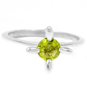 Peridot 925 Sterling Silver Ring Jewelry s.6 R5203P-6