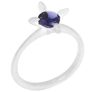 Iolite 925 Sterling Silver Ring Jewelry s.6 R5203I-6