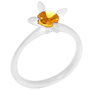 Citrine 925 Sterling Silver Ring Jewelry s.6 R5203C-6