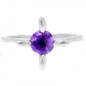 Amethyst 925 Sterling Silver Ring Jewelry s.6 R5203A-6
