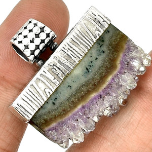 Amethyst Stalactites 925 Sterling Silver Pendant Jewelry PP116027