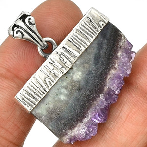 Amethyst Stalactites 925 Sterling Silver Pendant Jewelry PP116016