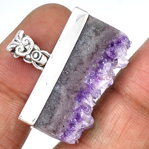 Amethyst Stalactitess 925 Sterling Silver Pendant Jewelry PP132549