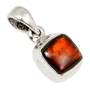 Canadian Ammolite 925 Sterling Silver Pendant Jewelry 22298P