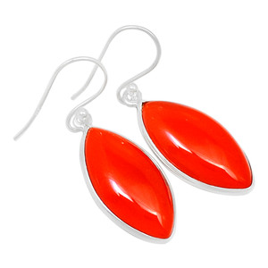 Carnelian 925 Sterling Silver Earrings Jewelry 21269E