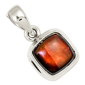 Canadian Ammolite 925 Sterling Silver Pendant Jewelry 22297P