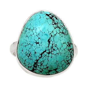 Natural Tibetan Turquoise 925 Sterling Silver Ring Jewelry s.10 22736R