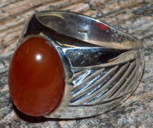 Carnelian 925 Sterling Silver Ring Jewelry s.6  JJ10816