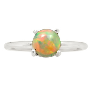 Ethiopian Opal 925 Sterling Silver Ring Jewelry s.8.5 24332R