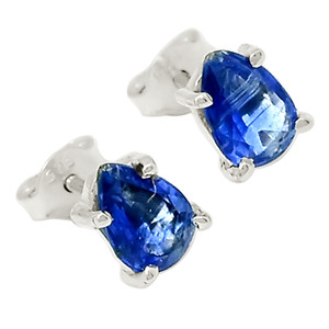 Faceted Kyanite 925 Sterling Silver Earrings Jewelry 23118E