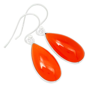 Carnelian 925 Sterling Silver Earrings Jewelry 23211E