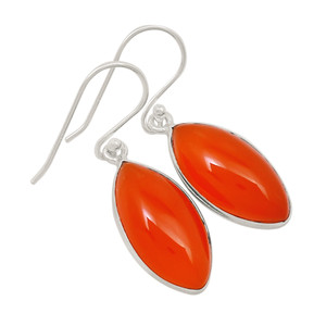 Carnelian 925 Sterling Silver Earrings Jewelry 24190E
