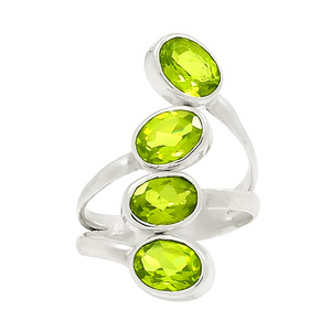 Peridot 925 Sterling Silver Ring Jewelry s.6.5 23002R