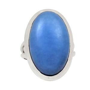 Angelite 925 Sterling Silver Ring Jewelry s.6 23415R