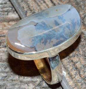 Russian Dendritic Agate 925 Sterling Silver Ring Jewelry s.6 JJ10931