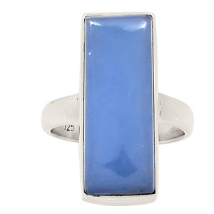 Angelite 925 Sterling Silver Ring Jewelry s.5.5 24387R