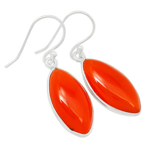 Carnelian 925 Sterling Silver Earrings Jewelry 23216E