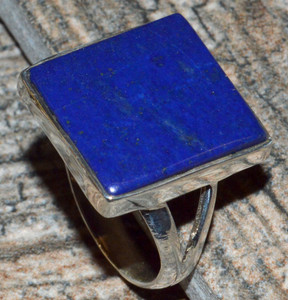 Lapis 925 Sterling Silver Ring Jewelry s. 7 JJ10850