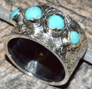 Sleeping Beauty Turquoise 925 Sterling Silver Ring Jewelry s.7 JJ10899