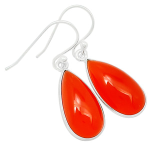 Carnelian 925 Sterling Silver Earrings Jewelry 23212E