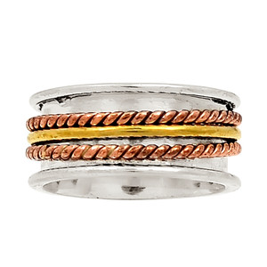 Meditation Spin Ring 925 Sterling Silver Ring Jewelry s.7.5 23235R