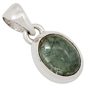 Green Tourmaline Cabochons 925 Sterling Silver Pendant Jewelry 26244P