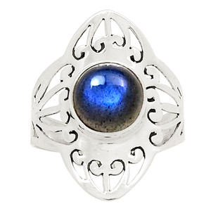 Artisan - Labradorite 925 Sterling Silver Ring Jewelry s.9 25070R