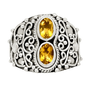 Artisan - Citrine 925 Sterling Silver Ring Jewelry s.7.5 25310R