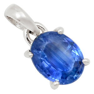 Faceted Blue Kyanite 925 Sterling Silver Pendant Jewelry 25863P