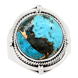 Ithaca Peak Turquoise 925 Sterling Silver Silver Ring Jewelry s.8 26070R