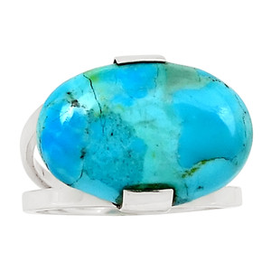 Sleeping Beauty Turquoise 925 Sterling Silver Silver Ring Jewelry s.7 26164R