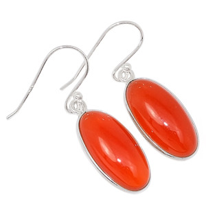 Carnelian 925 Sterling Silver Earrings Jewelry 27036E