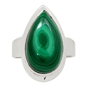 Malachite 925 Sterling Silver Ring Jewelry s.7.5 26404R