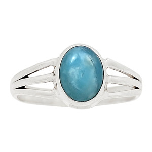 Aquamarine 925 Sterling Silver Ring Jewelry s.6 26689R