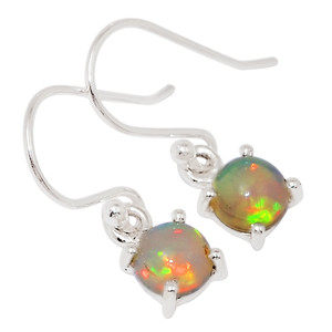 Ethiopian Opal 925 Sterling Silver Earrings Jewelry 27356E