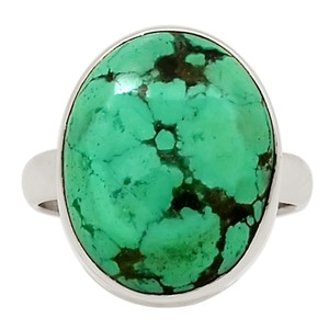 Natural Tibetan Turquoise 925 Sterling Silver Ring Jewelry s.8 27790R
