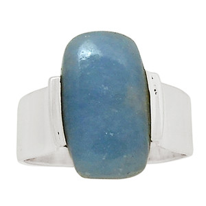 Angelite 925 Sterling Silver Ring Jewelry s.8.5 27475R