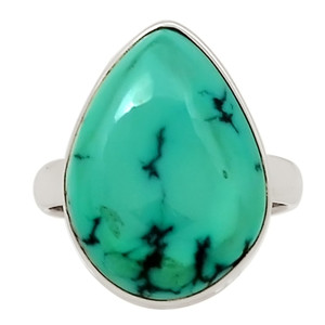 Natural Tibetan Turquoise 925 Sterling Silver Ring Jewelry s.8.5 27788R