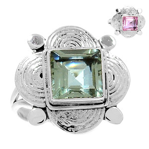 Artisan - Colorchange Alexandrite (Lab.) 925 Silver Rings Jewelry s.6 RR207449
